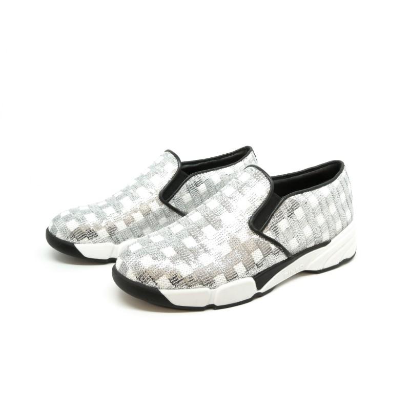 Sneakers Donna Sequins in tessuto ricamato con paillettes ... e64e57ab463