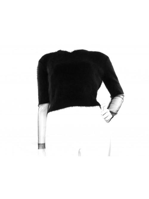 Karl Lagerfeld Maglia Donna Nero Mod. 81504 Rete Nero