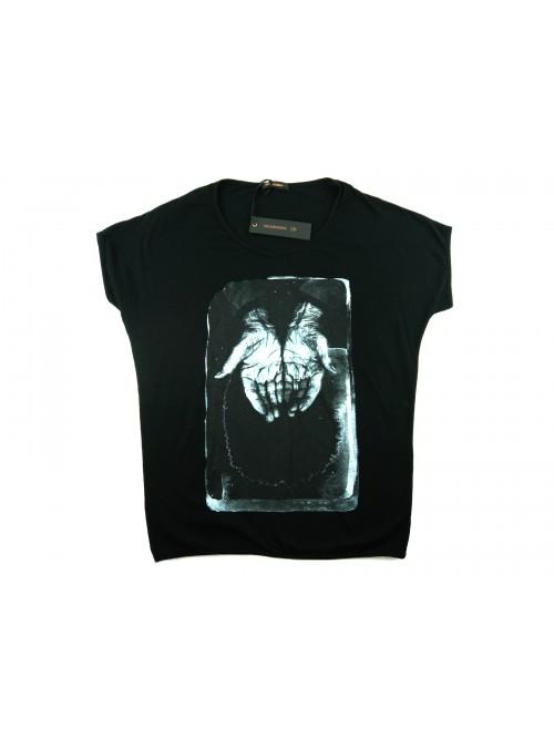 Zeusedera Women's T-Shirt Art. E18-2047 Print Face White