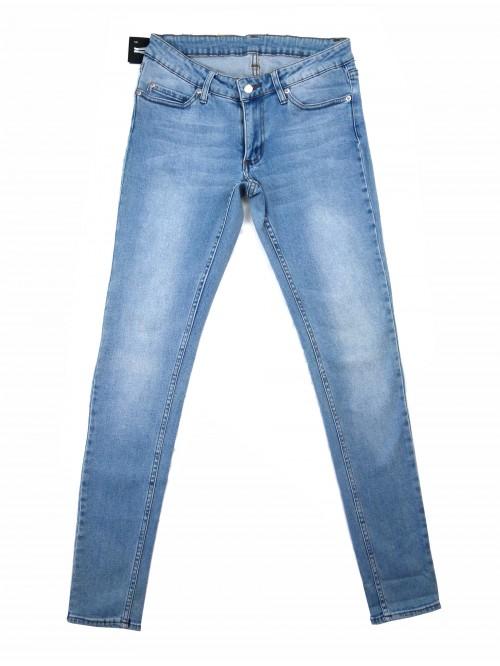 Cheap Monday Low Waist Women's Jeans Stonewash Blue Zip
