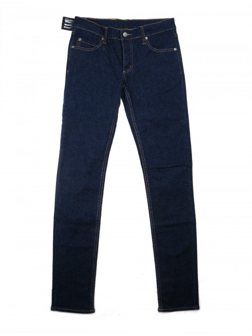Cheap Monday Unisex Jeans Narrow Onewash Blue Buttons