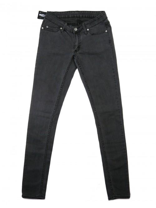 Cheap Monday Women's Slim Jeans Stonewash Black Zip