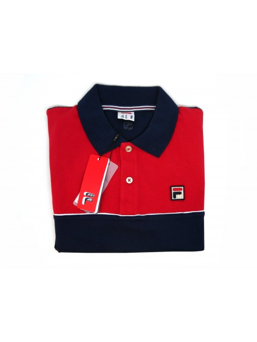 FILA Polo Man Art. 3920190802 Stretch Blue / Red