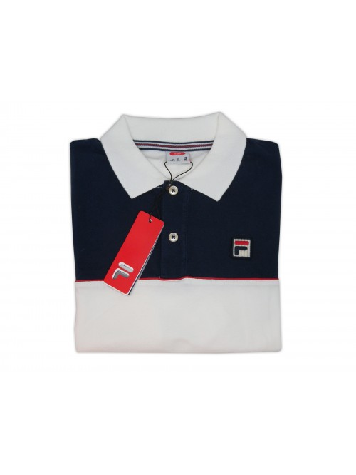 FILA Polo Man Art. 3920190802 Stretch Blue / White