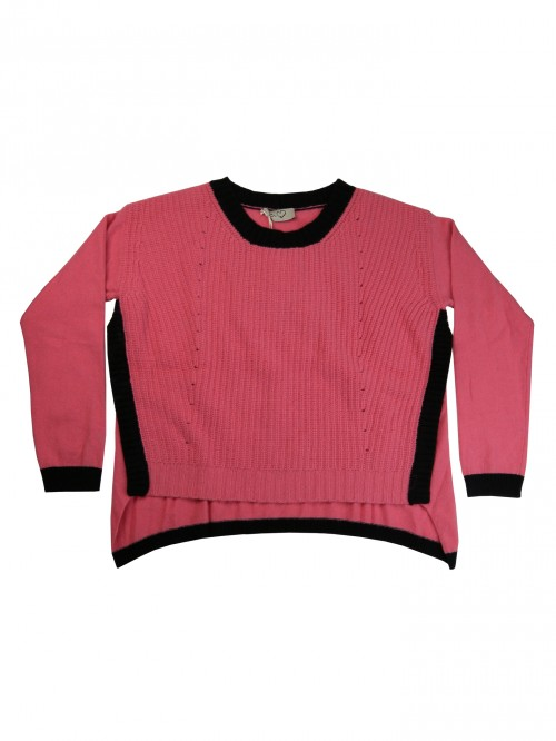 Ki Who Are You Sweater Woman Art. 39RMG21 Over Pink