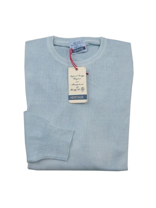 Heritage Sweater Man Mod. H0300G20 COL 51443 Celeste Delavè