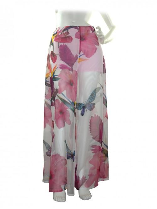 CQ Raggi Woman Trousers Multicolor Floral Fantasy