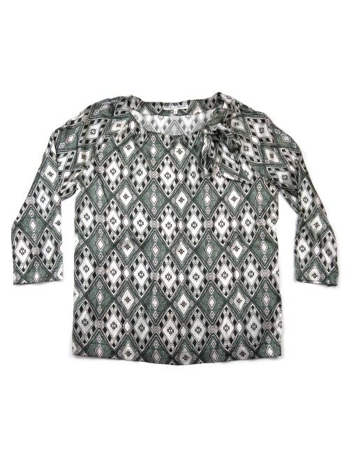 Daniel & Mayer Woman Shirt Mod. May Tribal Multicolor Scarf