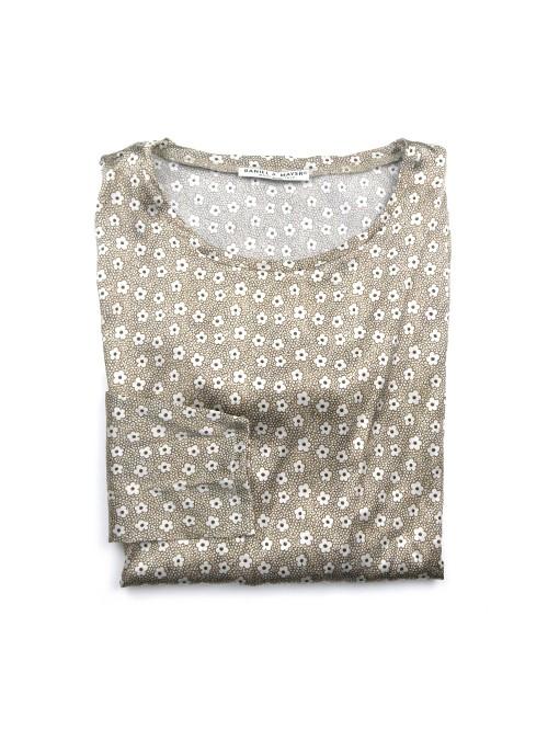 Daniel & Mayer Woman Shirt Mod. Tangeri Floral Dove Gray