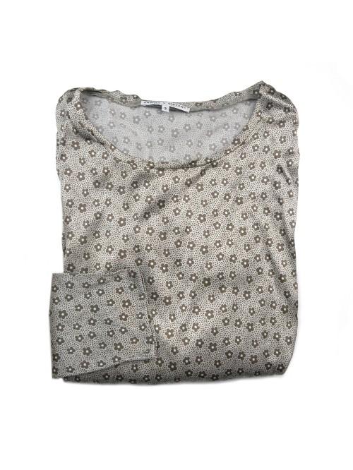 Daniel & Mayer Woman Shirt Mod. Tangeri Floral Pearl