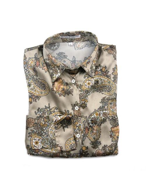 Daniel & Mayer Woman Shirt Mod. Camogli Paisley Taupe