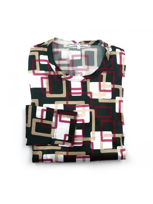 Daniel & Mayer Woman Shirt Mod. Puglia Geometric Multicolor