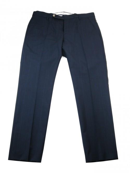 Entre Amis Men's Trousers Mod. P188357 / 1356 COL 400 prince de galle Blue