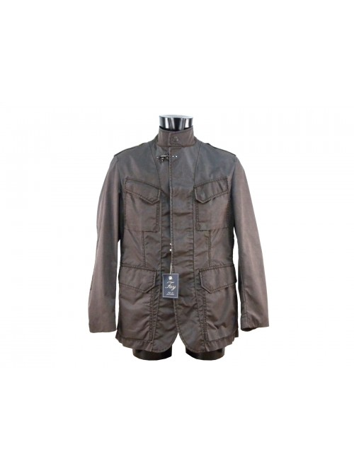 quality design 911fe dd73b Sahariana men's high-necked jacket with snap button