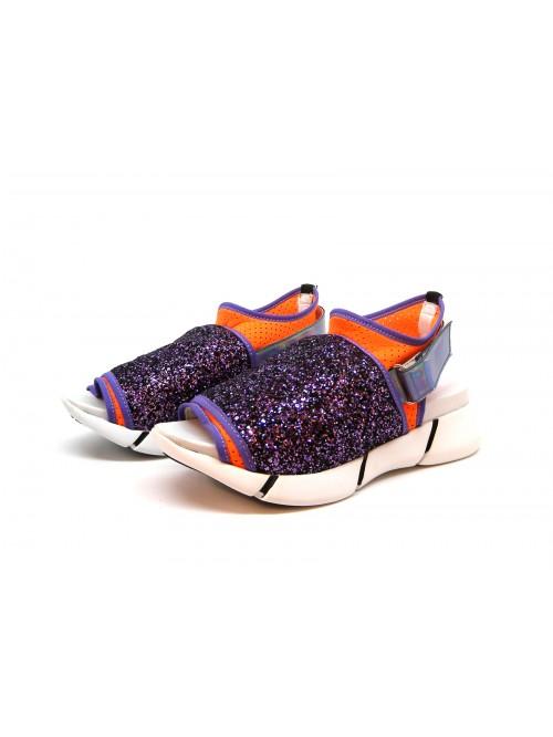 Elena Naki Women's Glitter Stretch Sandals