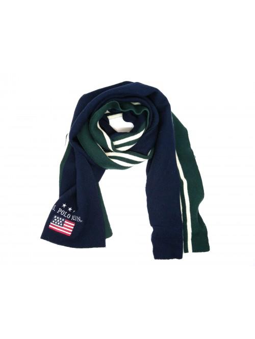 US Polo Association Sciarpa Mod. Neil Knit Blu