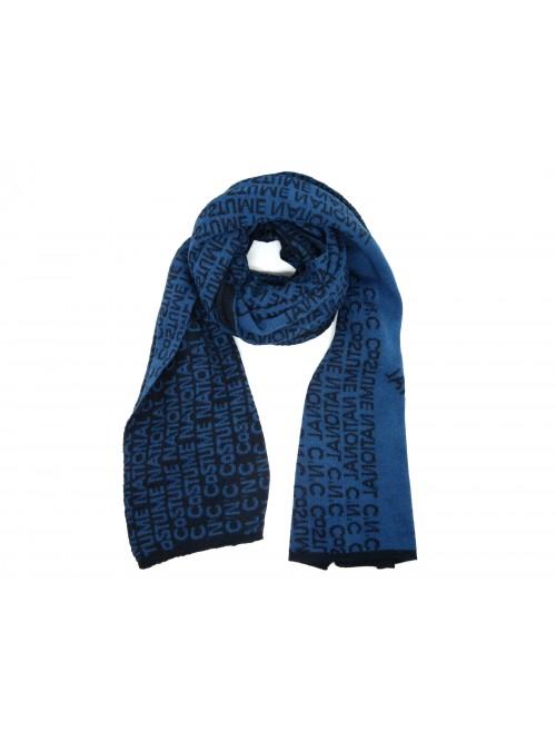 Costume National Sciarpa Art. 095NUHAE81954 Multi Logo Blu - Azzurro