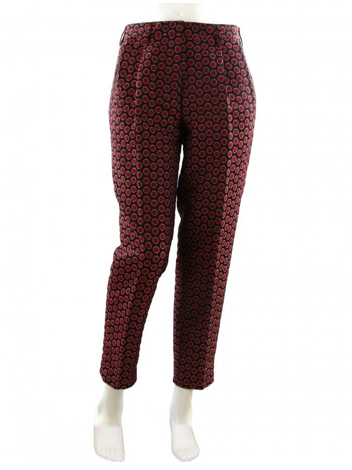 b5e3197fb599f4 Pantaloni Mod Bolle Donna Etro Bordeaux 18267 wYqSUT